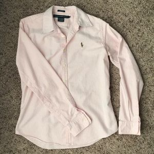 Ralph Lauren Sport Slim Fit Pink/White Button Up